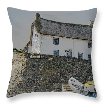 Throw Pillow featuring the photograph Fishermans Cottage by Brian Roscorla