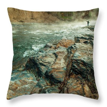 Throw Pillow featuring the photograph Fishing Day by Iris Greenwell