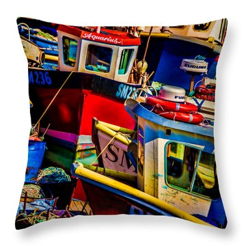 Fishing Fleet Throw Pillow