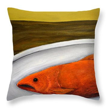 Fishy Fish Ll Throw Pillow