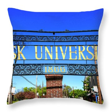 Fisk University Nashville Throw Pillow