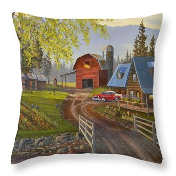 Five Oclock Coffee Throw Pillow