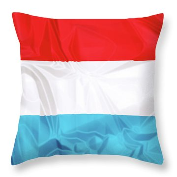Flag Of Luxembourg Throw Pillow