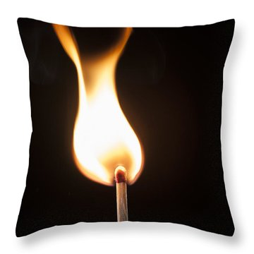 Throw Pillow featuring the photograph Flame by Tyson and Kathy Smith