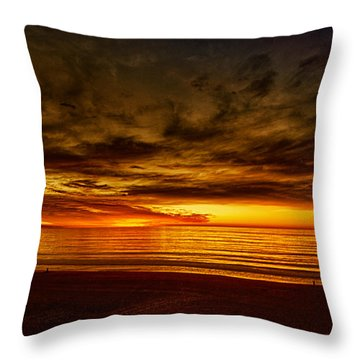 Flaming Sunset Throw Pillow