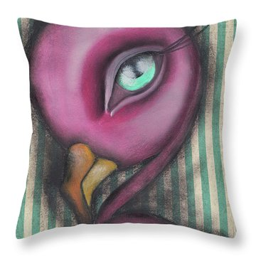 Flamingo Throw Pillow by Abril Andrade Griffith