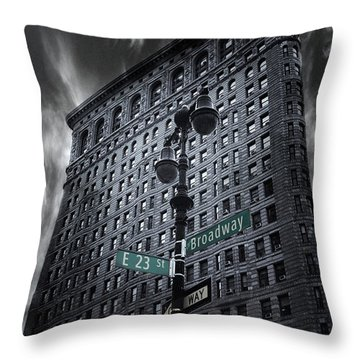 Throw Pillow featuring the photograph Flatiron Noir by Jessica Jenney