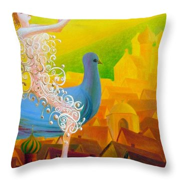 Flight Of The Soul Throw Pillow