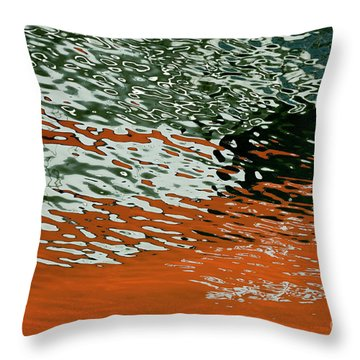 Throw Pillow featuring the photograph Floating On Blue 43 by Wendy Wilton