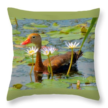 Floral Accessories Throw Pillow