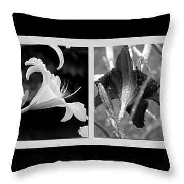 Floral Collage Throw Pillow by Sue Stefanowicz