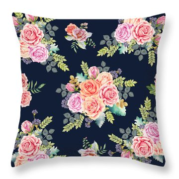 Floral Pattern 1 Throw Pillow by Stanley Wong