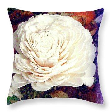 Throw Pillow featuring the photograph Floral Potpourri by Merton Allen