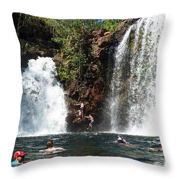 Florence Falls Throw Pillow