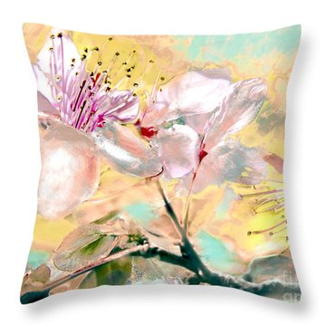 Flores De Primavera Throw Pillow