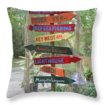Florida Crossroads II Throw Pillow