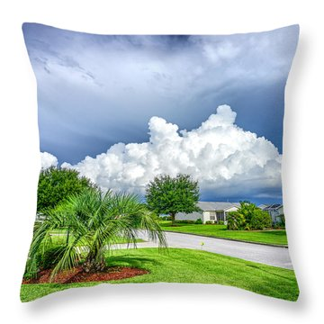 Florida Sky Throw Pillow