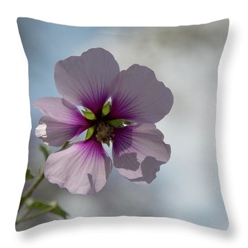 Flower In Focus Throw Pillow