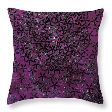 Flower Shower Throw Pillow by Bonnie Bruno