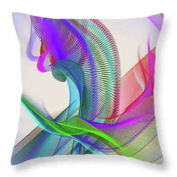 Throw Pillow featuring the digital art Flower Vase by Visual Artist Frank Bonilla