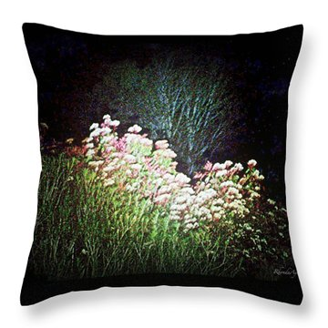 Flowers At Night Throw Pillow