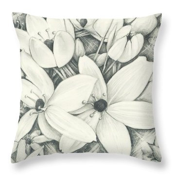 Flowers Pencil Throw Pillow