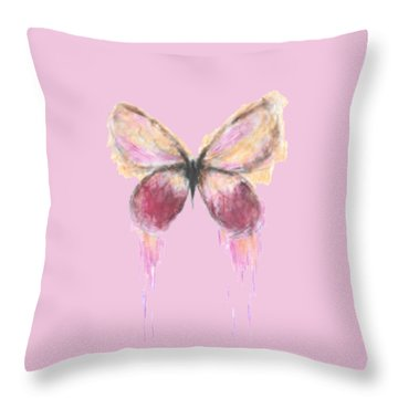 Flutterby  Throw Pillow by Herb Strobino