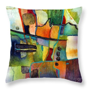 Throw Pillow featuring the painting Fluvial  Mosaic by Hailey E Herrera