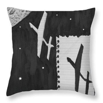 Fly Me To The Moon Throw Pillow by Quwatha Valentine