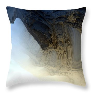 Fog In The Cave Throw Pillow
