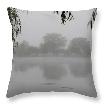 Fog On The Pond Throw Pillow