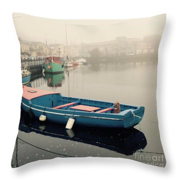 Foggy Galway Throw Pillow by Louise Fahy