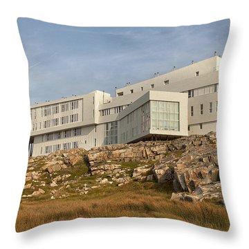 Fogo Island Inn Throw Pillow by Eunice Gibb