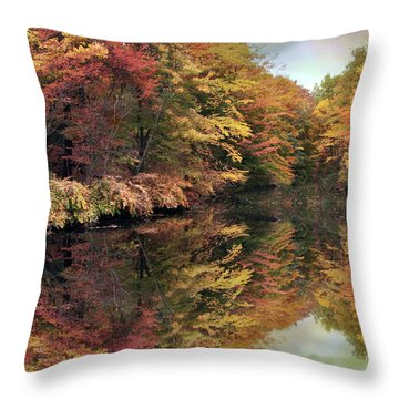 Throw Pillow featuring the photograph Foliage Reflections by Jessica Jenney
