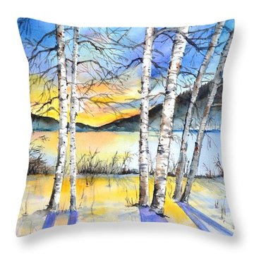 For Love Of Winter #5 Throw Pillow