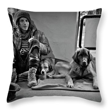 For The Love Of Dog Throw Pillow