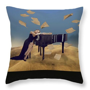 For The Love Of Music Throw Pillow