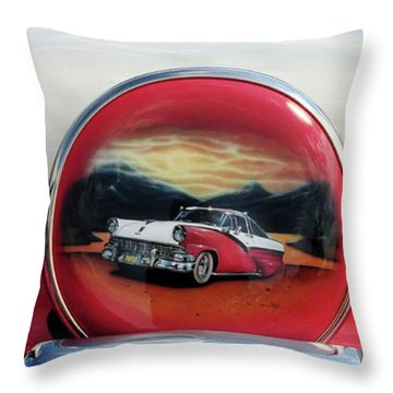 Ford Fairlane Rear Throw Pillow