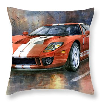 Ford Gt 40 2006  Throw Pillow