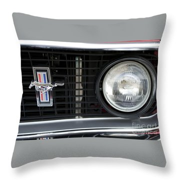 Ford Mustang   Throw Pillow by Pamela Walrath
