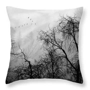 Forever Autumn Throw Pillow by John Poon