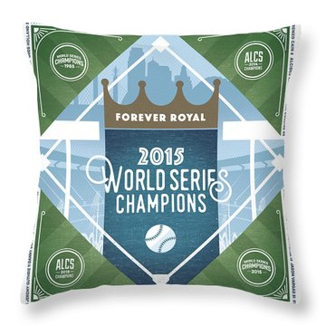 Forever Royal Throw Pillow