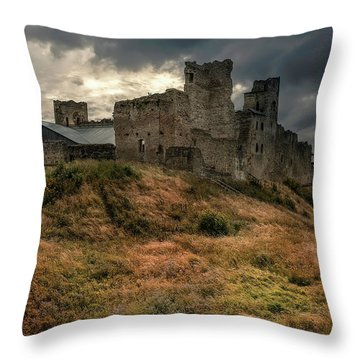 Forgotten Castle Throw Pillow