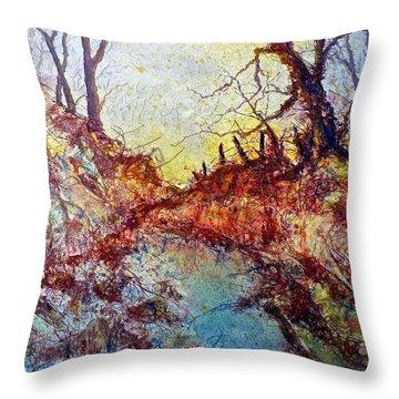 Forgotten Fence Throw Pillow