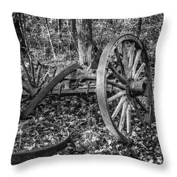 Forgotten Wagon Throw Pillow