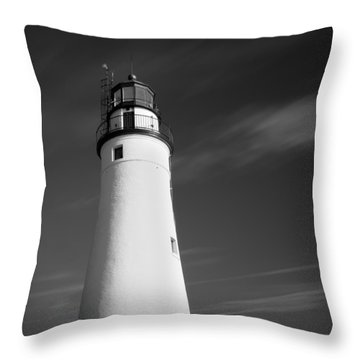 Throw Pillow featuring the photograph Fort Gratiot Lighthouse by Gordon Dean II