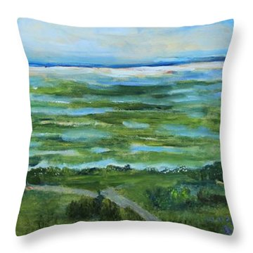 Fort Hill Panorama Throw Pillow