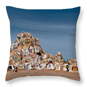 Throw Pillow featuring the photograph Fort Irwin by Jim Thompson