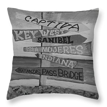 Fort Myers Beach Mural Throw Pillow