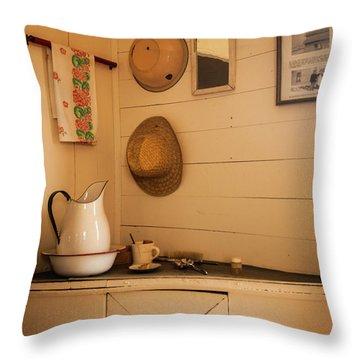 Fort Rock Museum Throw Pillow